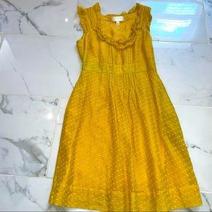 Moulinette Soeurs Yellow Polka dot Dress